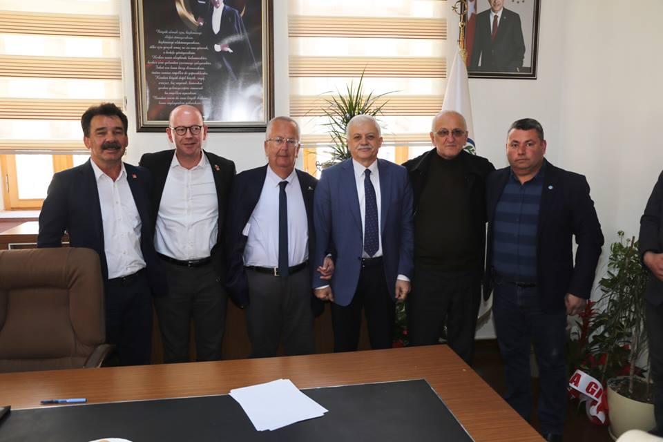 Gömeç Belediye Başkanı Mehmet İrem Himam'a Makamda Ziyaret