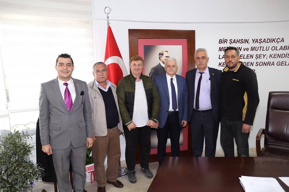 Esnaf ve Sanatkarlar Odası Başkanı Hasan Bayram ve Yönetim Kurulu Üyeleri Ziyareti