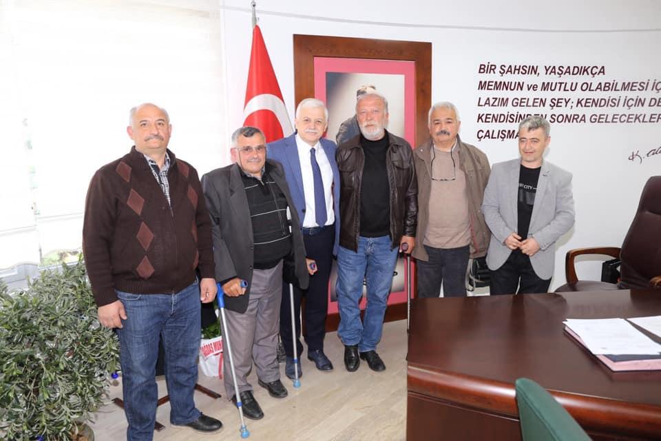 Türkiye Sakatlar Derneği Burhaniye Şube Başkanı Gürsel Vardar ve İlçe Yönetim Kurulu Ziyareti