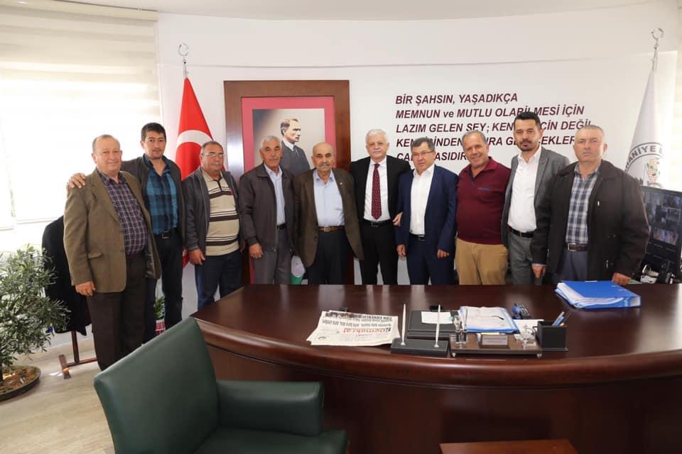 Burhaniye Ziraat Odası Başkanı Ali Duman ve Yönetim Kurulu Üyeleri Ziyareti