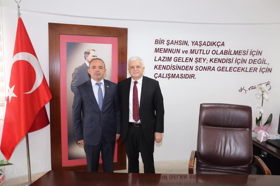 İlçe Kaymakamı Hüseyin Öner Belediye Başkanı Ziyareti