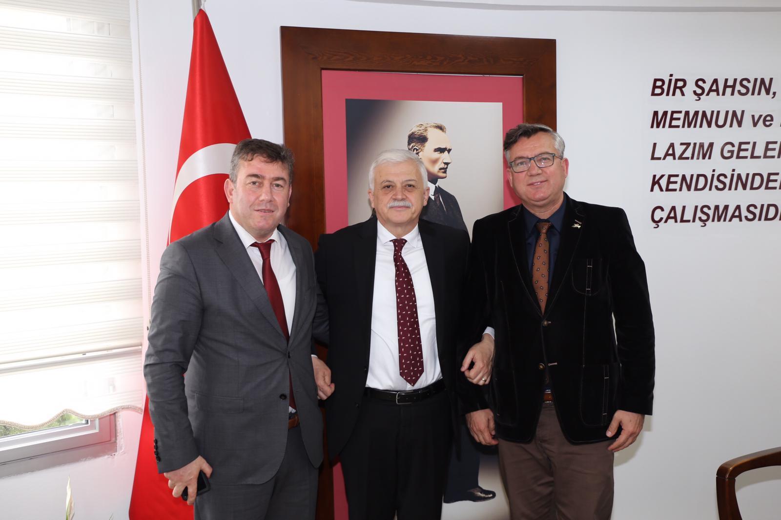 Balıkesir Kocaseyit Havaalanı Müdürü Taner Ödemiş ve Edremit Sivil Havacılık Yüksek Okulu Müdürü Prof.Dr.Abdullah Soykan Ziyareti