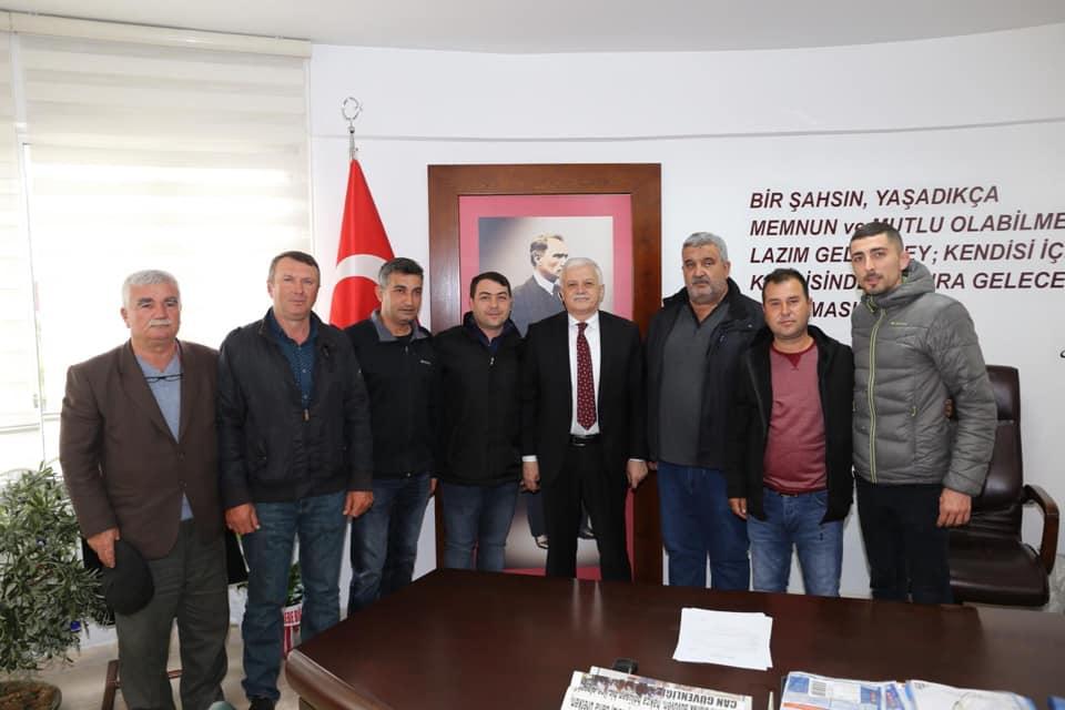 Burhaniye Avcılar Kulübü Başkanı Mustafa Kabakçı ve İlçe Yönetim Kurulu Üyeleri Ziyareti