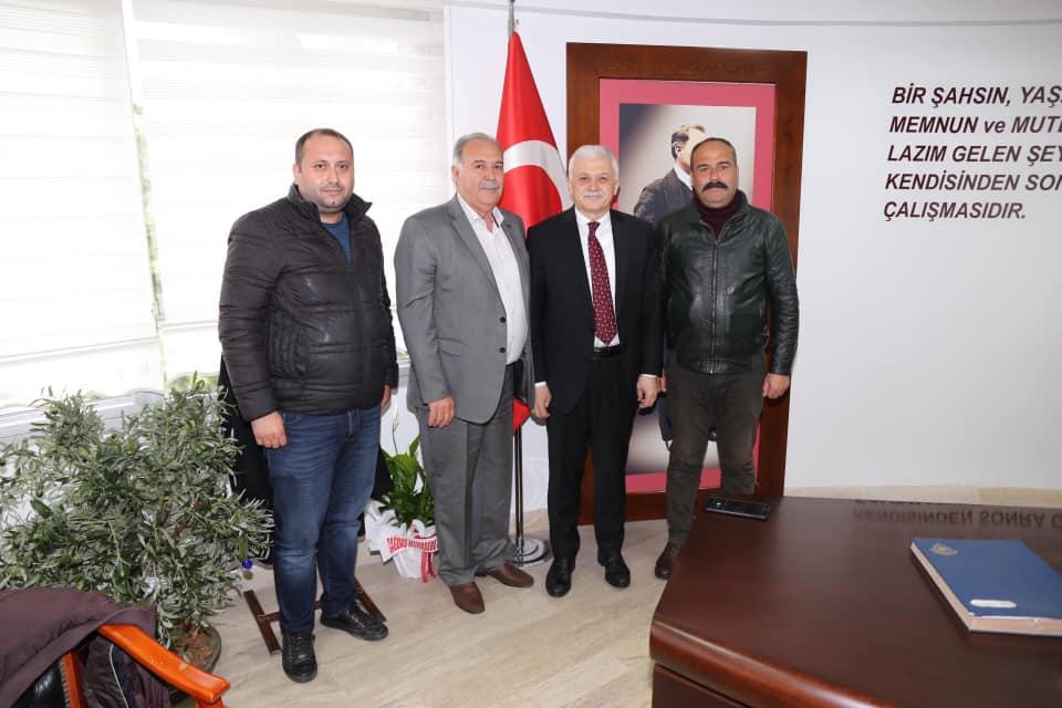 Burhaniye Şoförler Ve Otomobilciler Odası Başkanı Cezmi Kazar ve Yönetimi Ziyareti