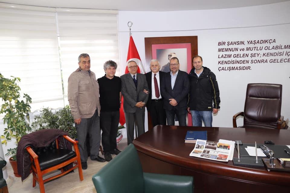 Edremit Körfezi Zeytin ve Zeytinyağı Üreticileri Dernekler Federasyonu Yönetim Kurulu Üyeleri Ziyareti