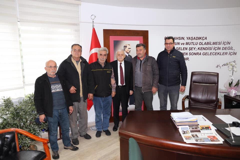 Küçük Sanayi Sitesi Kooperatifi Rasim Kızmaz ve İlçe Yönetimi Ziyareti