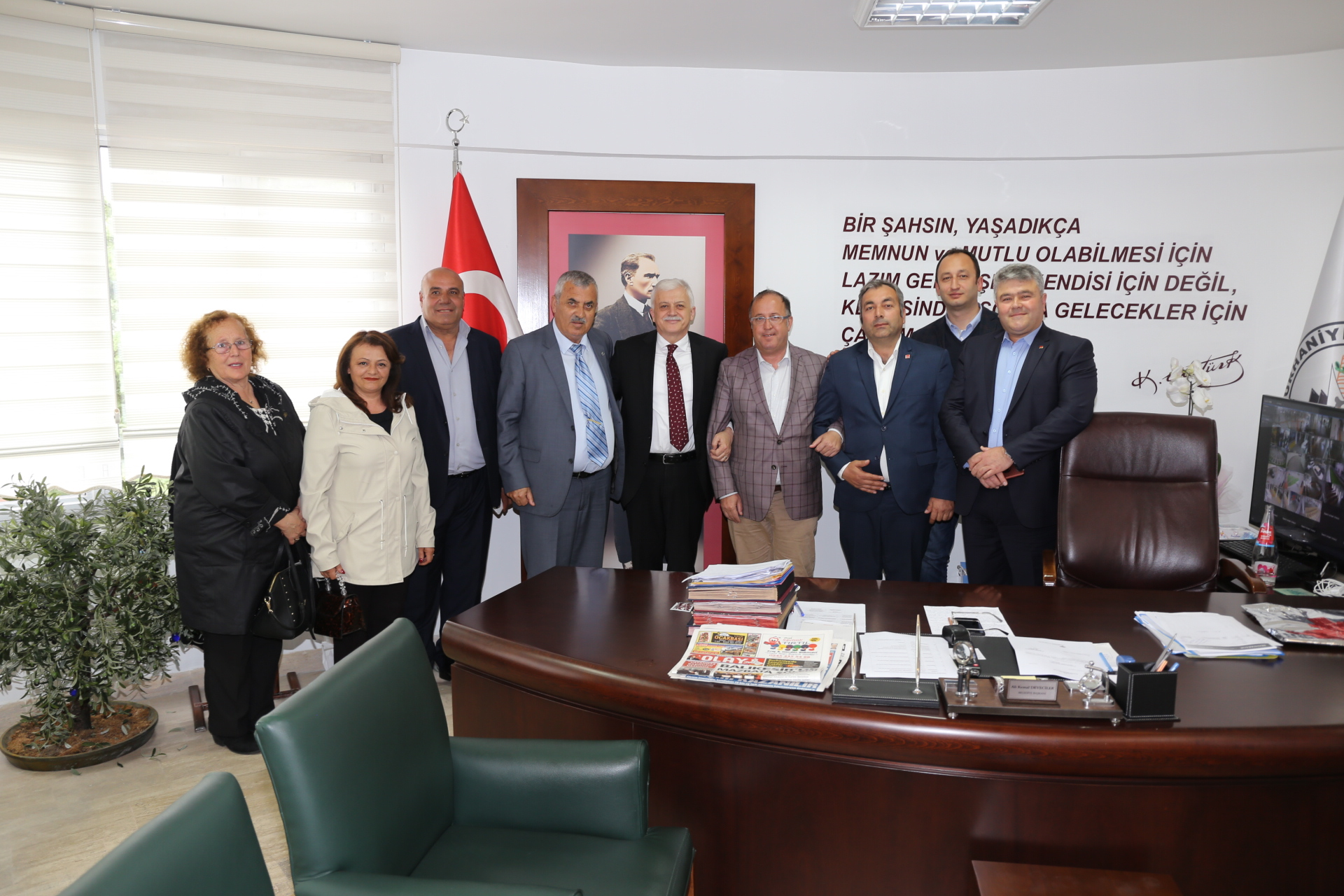 Küçükkuyu Belediye Başkanı Cengiz Balkan ve Meclis Üyeleri Ziyareti