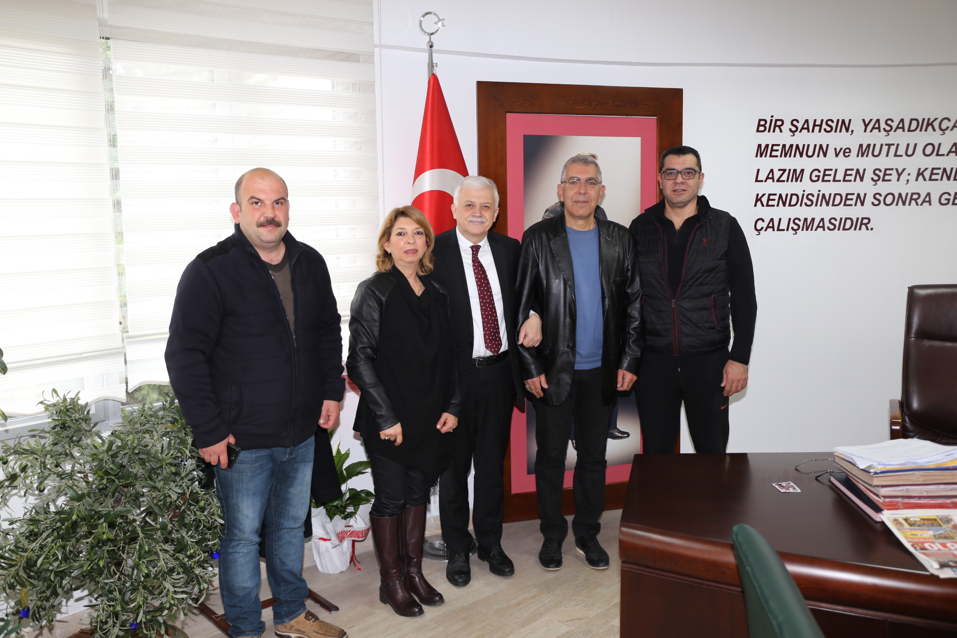 Turizm Tanıtma Derneği Başkanı Şükrü Baykal ve İlçe Yönetim Kurulu Üyeleri Ziyareti