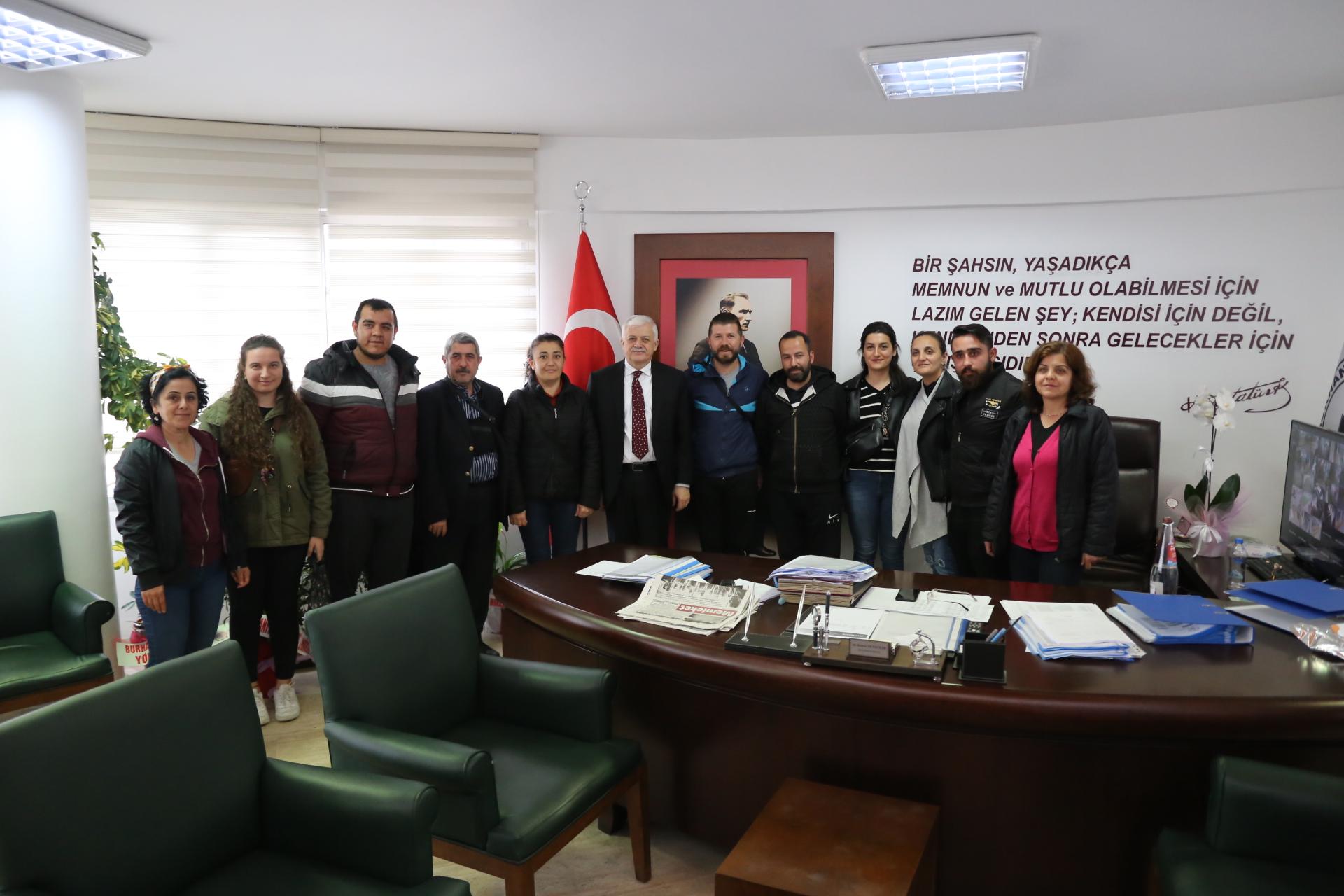 Misya Halk Oyunları Ekibinden Başkana Ziyaret
