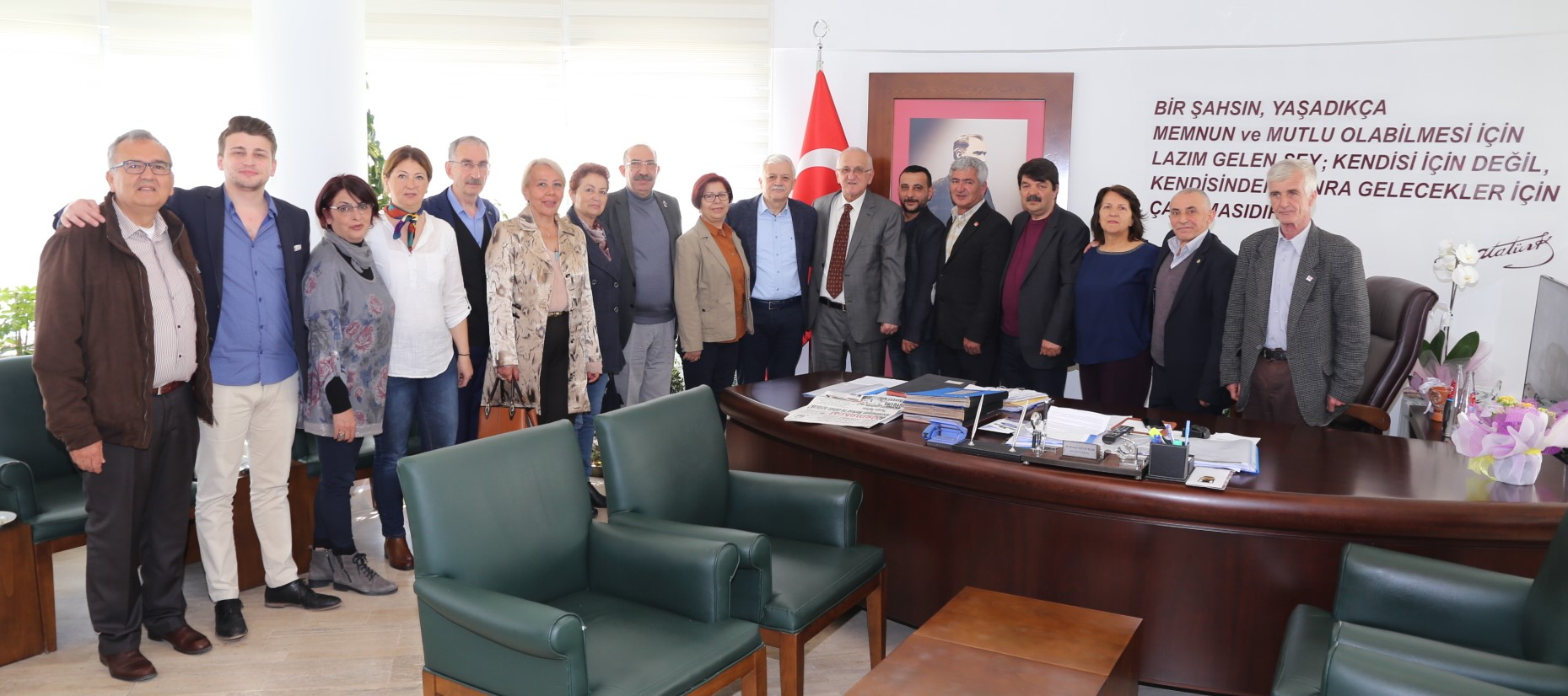 CHP Yönetiminden, Başkan Deveciler'e Hayırlı Olsun Ziyareti