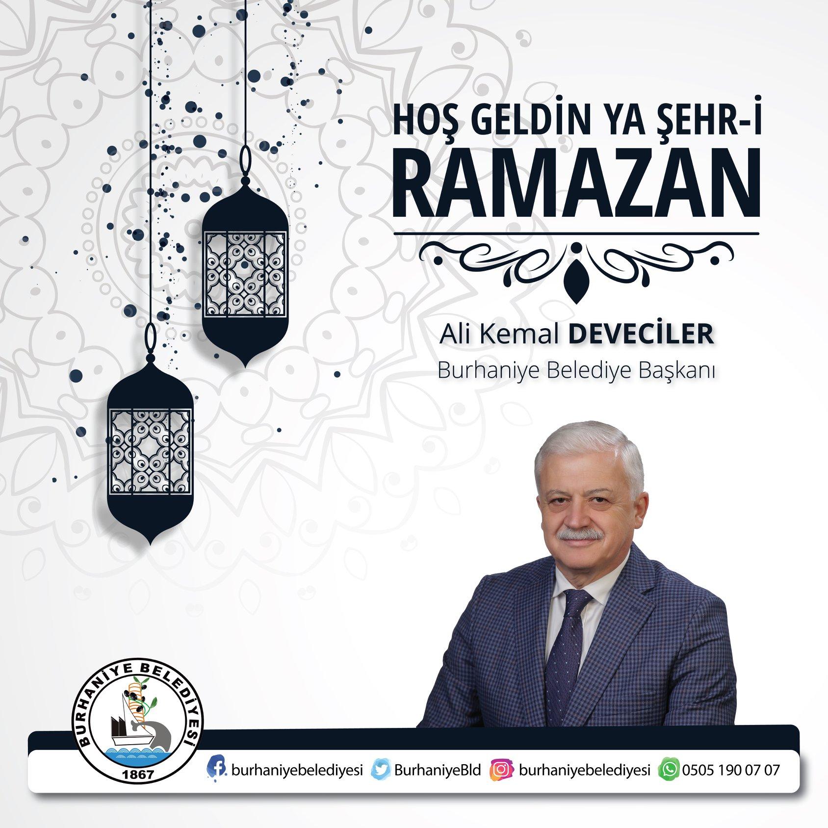 Belediye Başkanımız Ali Kemal Deveciler!in Ramazan Ayı  Mesajı