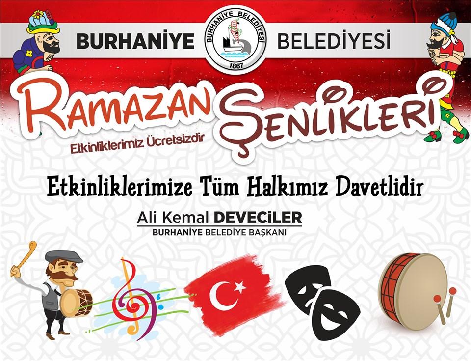 Burhaniye Belediyesi Ramazan Şenlikleri Başlıyor