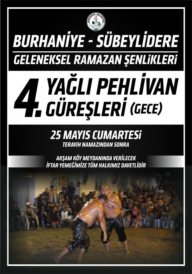 Ramazan Şenliğinde Gece Güreşleri Burhaniye'de Sübeylidere Gece Güreşleri 25 Mayısta Yapılacak