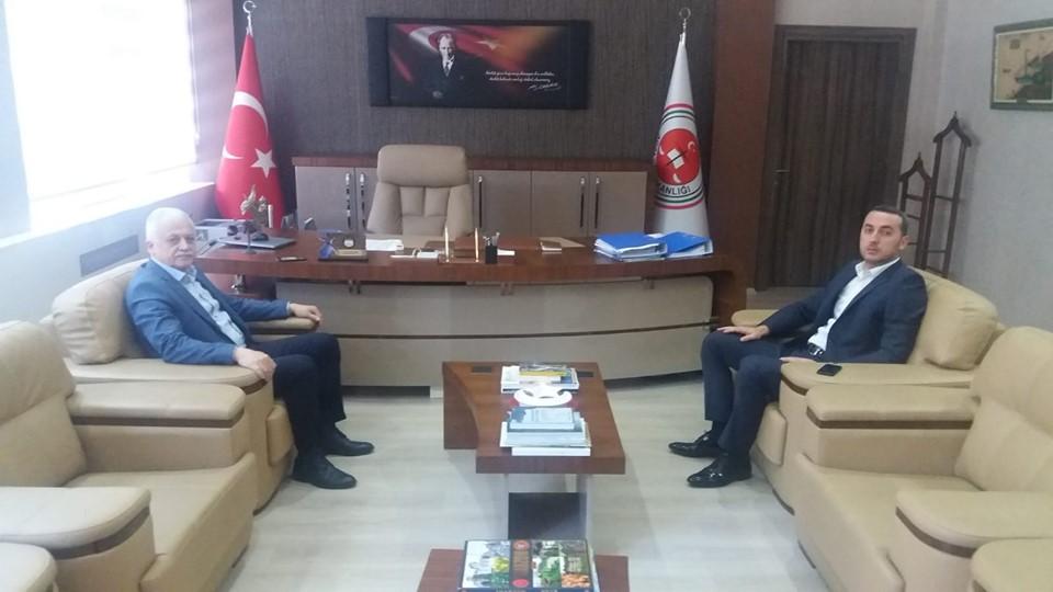 Burhaniye Belediye Başkanı Ali Kemal Deveciler Başsavcı Zafer Birinci'yi Ziyaret Etti