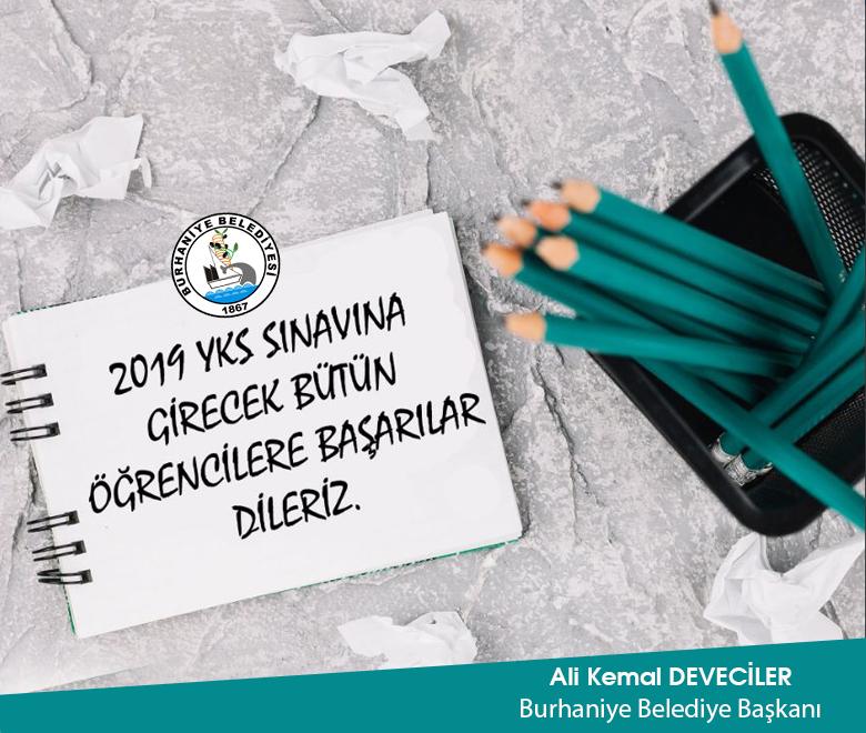 YKS'ye Girecek Olan Öğrencilerimize Başarılar Dileriz