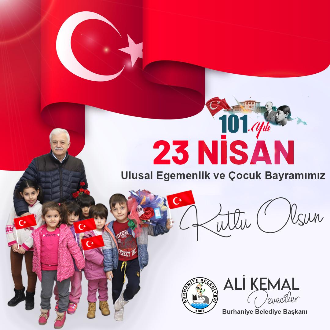 23 Nisan Ulusal Egemenlik ve Çocuk Bayramı Kutlama Mesajı