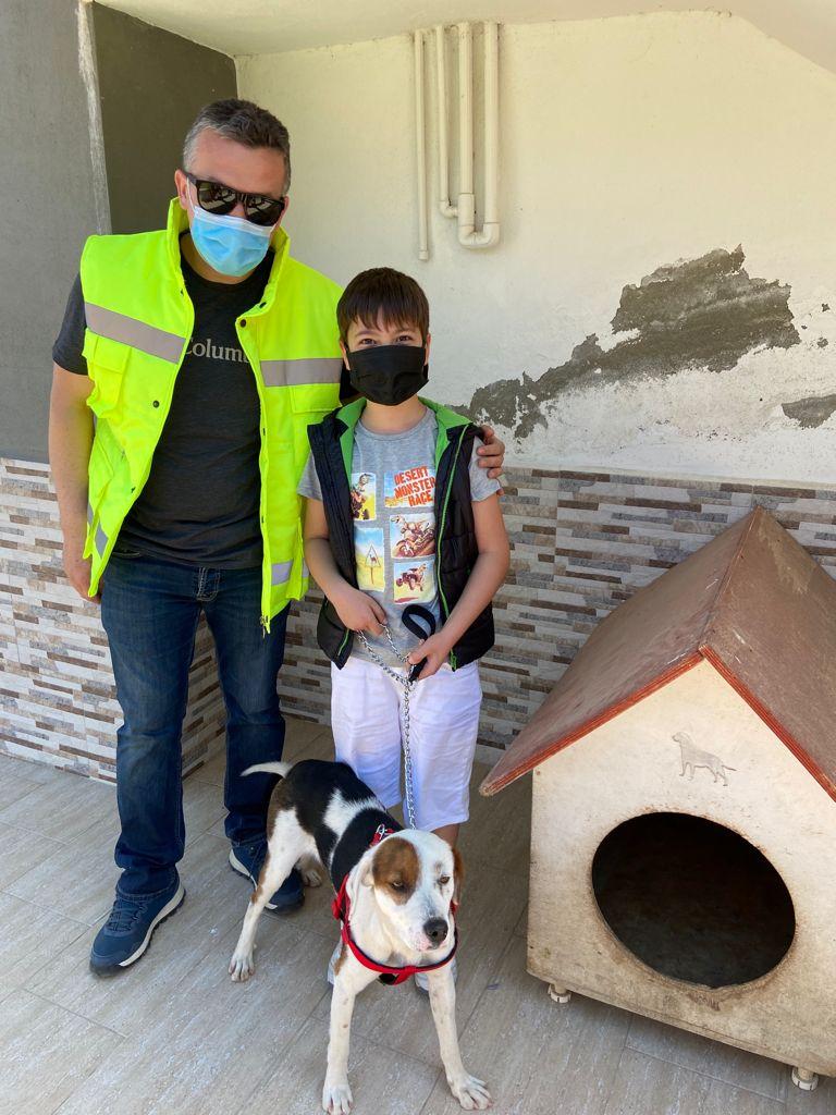 Burhaniye Belediyesi Sokak Hayvanları Geçici Bakımevindeki 1 Can Dostumuz Daha Yeni Ailesine Kavuştu.
