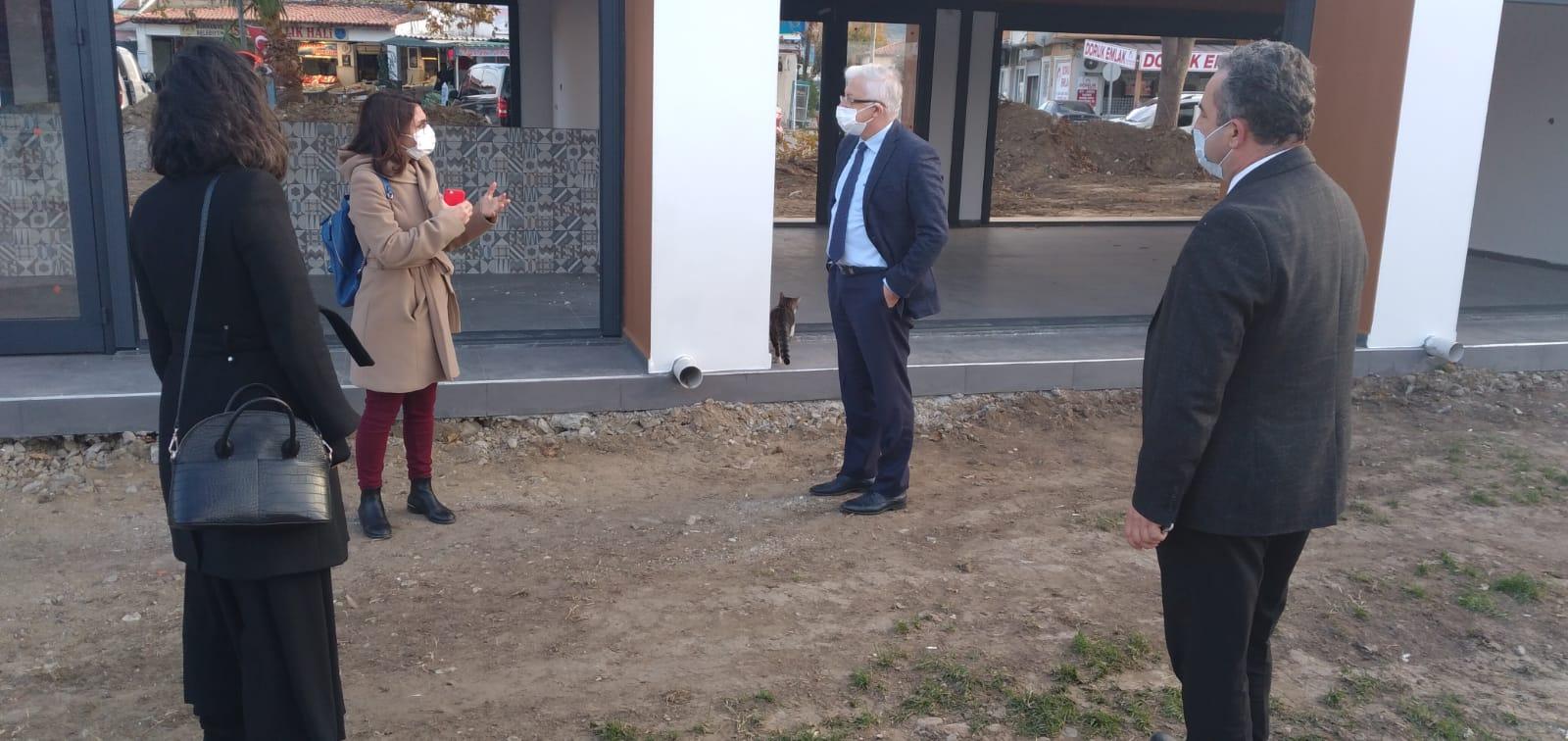 Burhaniye Belediye Başkanı Ali Kemal Deveciler Yeni Hizmet Yatırımlarını Yerinde İnceledi..