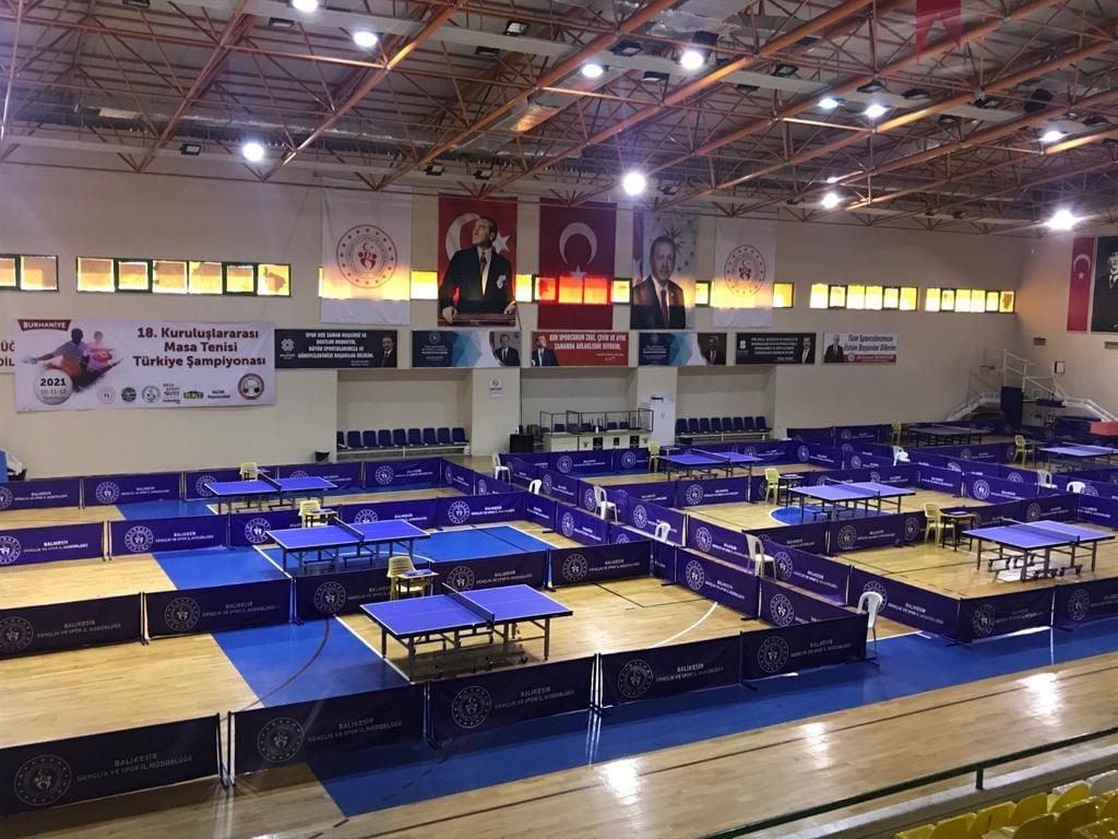 Kuruluşlararası Masa Tenisi Türkiye Şampiyonası Burhaniye'de Başlıyor!